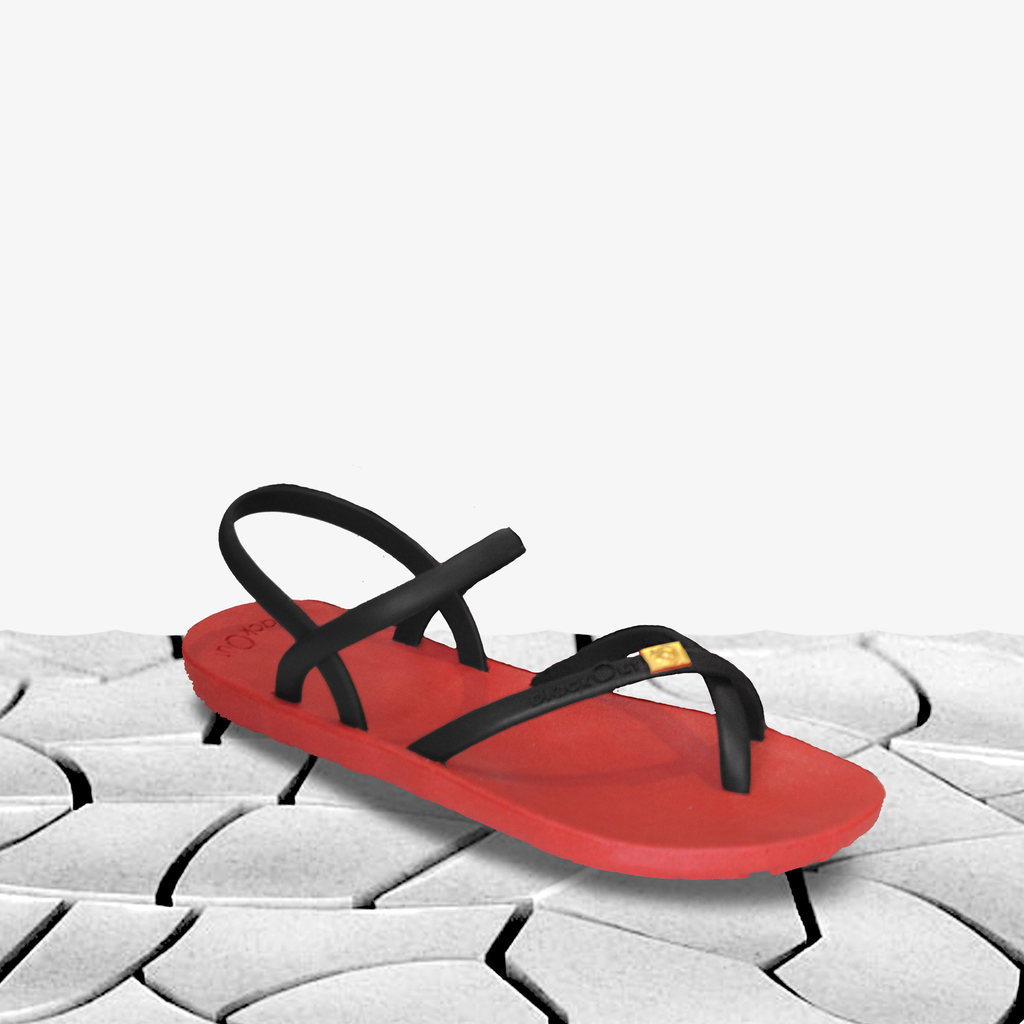Red Toe Loop Slingback - Blackout Malaysia
