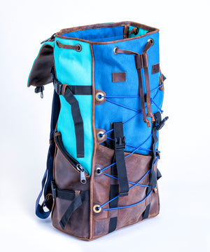 Bomber Bag - Aqua/Farm Blue