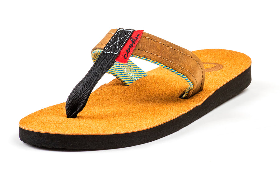 Roadie - Beach Dirt - Women's Leather Flip Flops