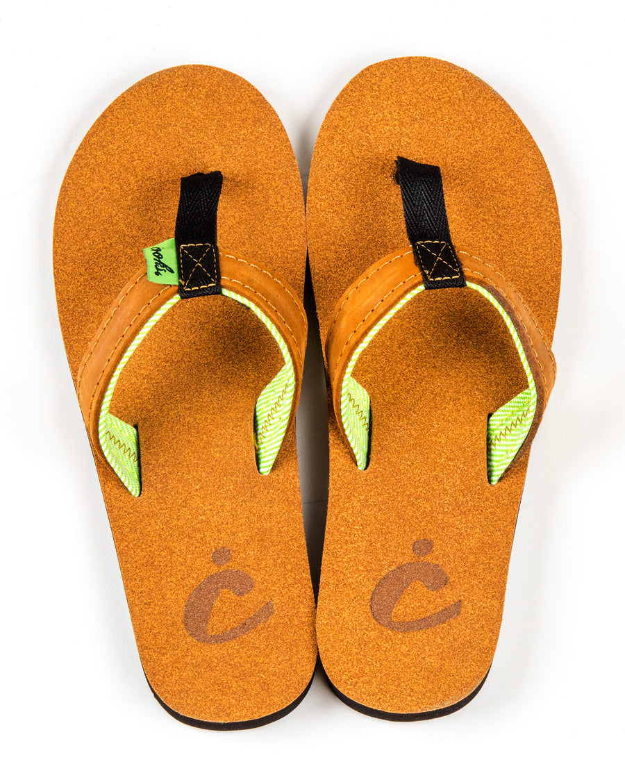 Roadie - Salted - Women's Leather Flip Flops
