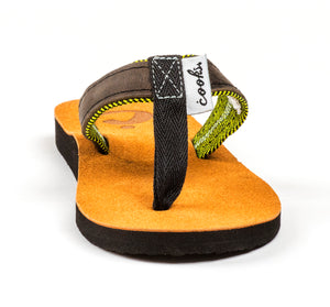 Roadie - Honeycomb - Women's Leather Flip Flops