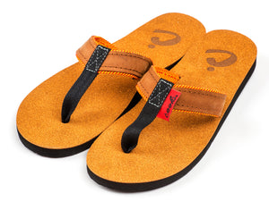 Roadie - La Fuega - Women's Leather Flip Flops