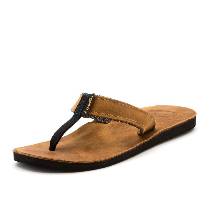 Barnyard - Dirty Copper - Men's Leather Flip Flops