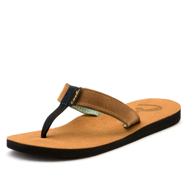 Roadie - Beach Dirt - Men's Leather Flip Flops