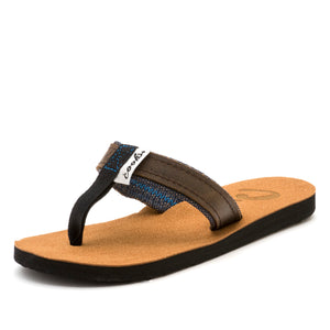 Roadie - Black Grease - Women's Leather Flip Flops