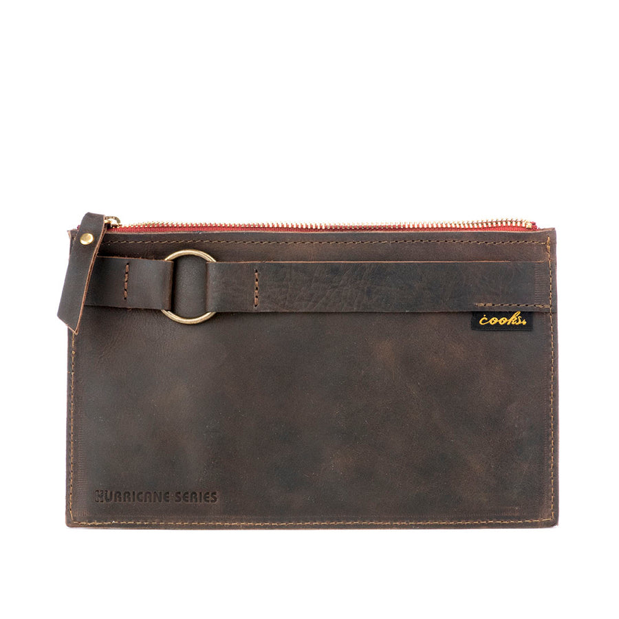 Hurricane Clutch - Small Zippered Clutch with 4 interior dividers with card and accessory holders.