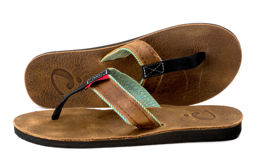 Barnyard - Tin - Women's Leather Flip Flops