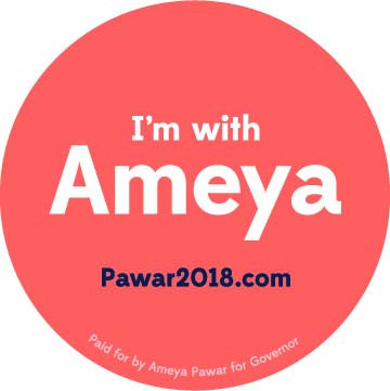 I'm With Ameya Button - 2 1/4