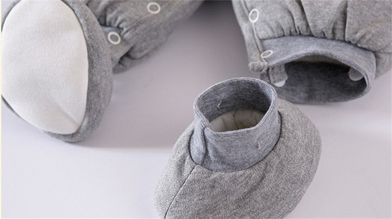 Totoro Hooded Onesie with Matching Shoes