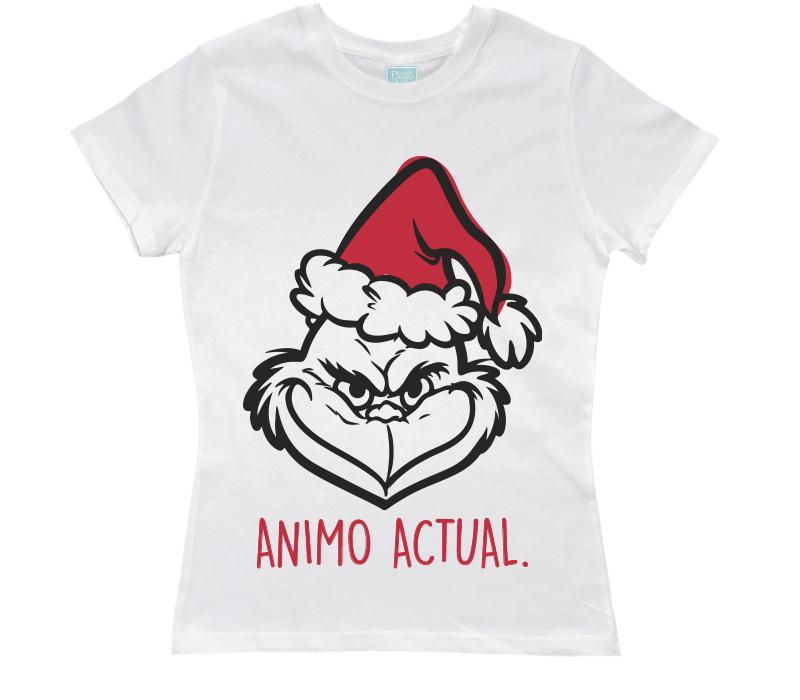 Playera Dama Animo Actual Navideño Playeras Dama Blanco / CH / Dama