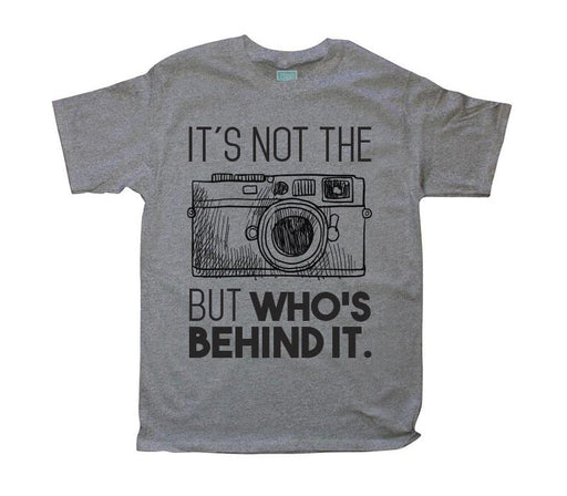 Playera para Caballero Camera Playeras Plash Gris CH