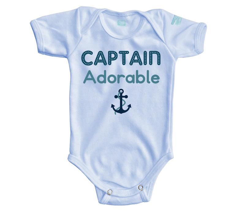 Body Bebé Captain Adorable Pañalero Manga Corta / Azul / 0m