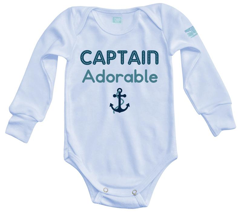 Body Bebé Captain Adorable Pañalero Manga Larga / Azul / 0m