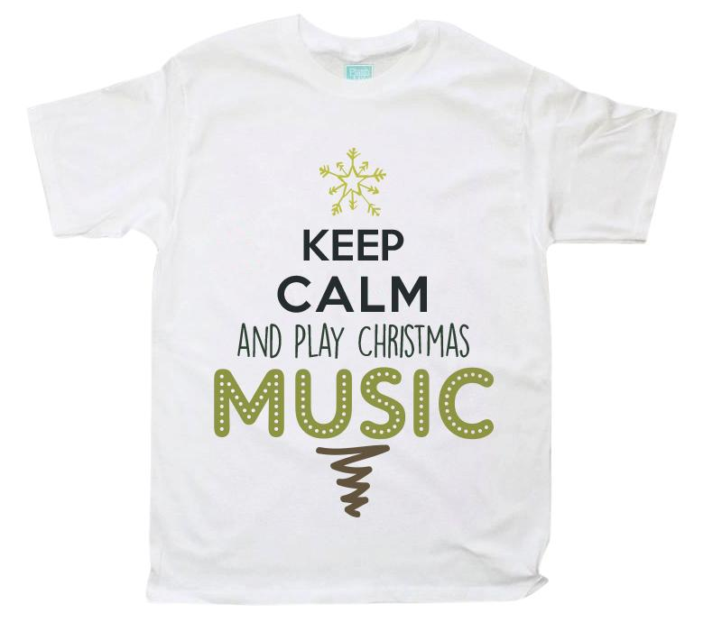 Playera Caballero Christmas Music Playeras Caballero