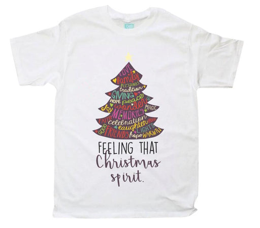Playera Caballero Feeling That Christmas Spirit Playeras Caballero Blanco / CH / Caballero