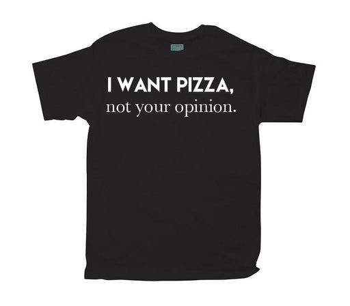 Playera para Caballero I Want Pizza Playeras Plash Negro CH
