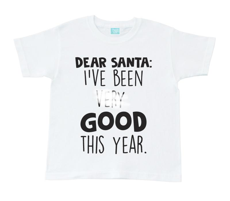 Playera para Niño Unisex I've Been Good Playeras Para Niños Blanco / 1 año