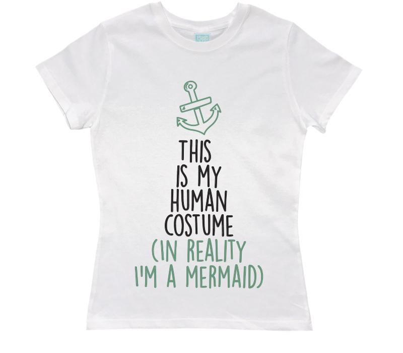 Playera para Dama I'm A Mermaid Playeras Dama Blanco / CH