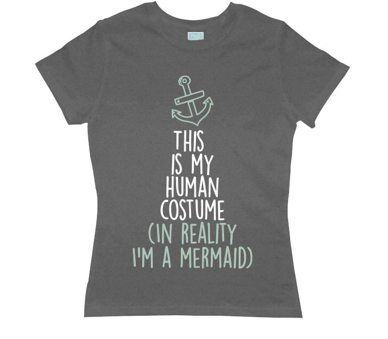 Playera para Dama I'm A Mermaid Playeras Dama Gris / CH