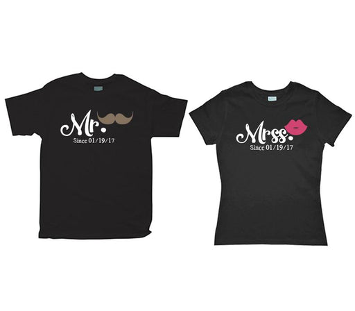 Kit de Pareja Mr-Mrs Bigote y Labios Kit de Parejas Negro / CH / CH