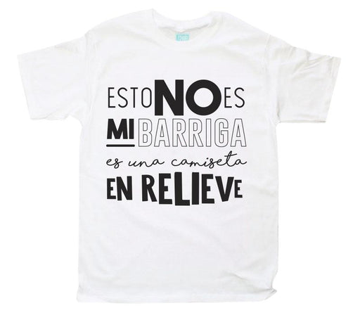 Playera para Caballero No Es Mi Barriga Playeras Plash Blanco CH