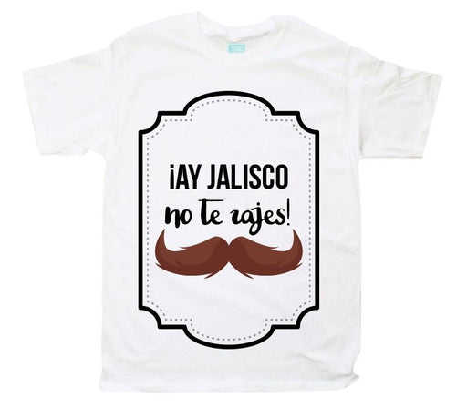 Playera Ay Jalisco Playeras Plash Blanco CH Caballero