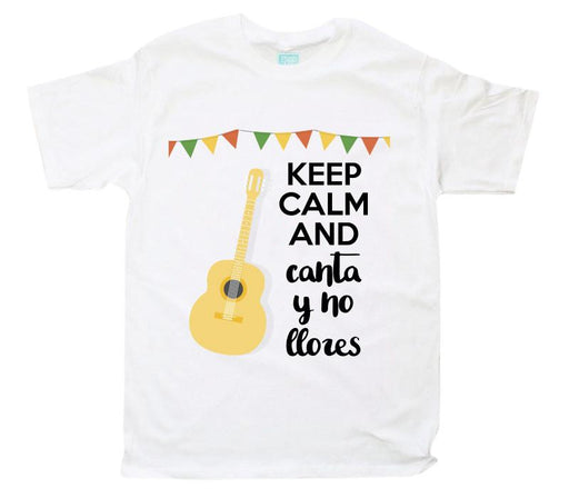 Playera Canta Guitarra Playeras Plash Blanco CH Caballero