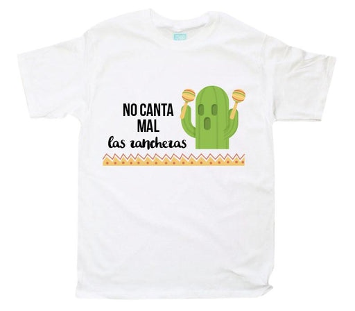 Playera No Canta Mal Playeras Plash Blanco CH Caballero