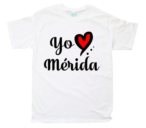 Playera Yo Amo Mérida Playeras Plash Blanco CH Caballero