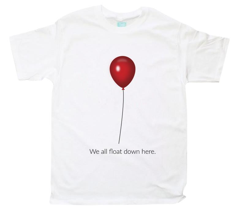 Playera para Caballero We All Float Down Here Playeras Plash Blanco CH