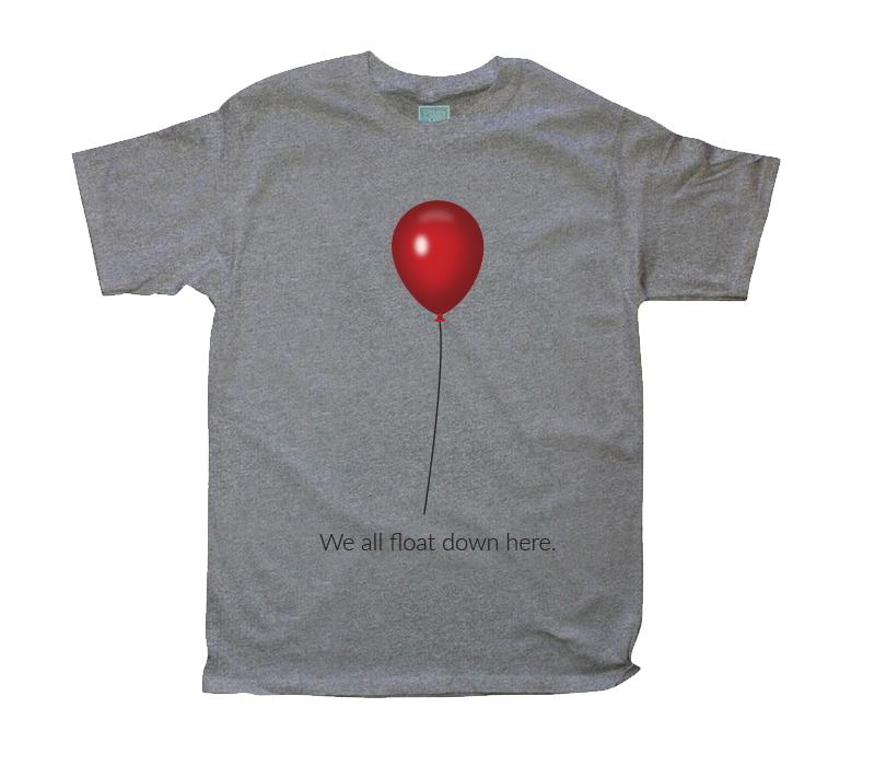 Playera para Caballero We All Float Down Here Playeras Plash Gris CH