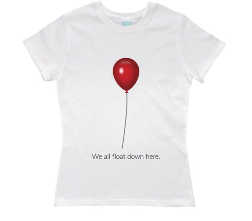 Playera para Dama We All Float Down Here Playeras Dama Blanco / CH