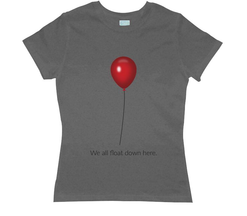 Playera para Dama We All Float Down Here Playeras Dama Gris / CH