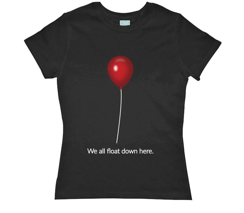 Playera para Dama We All Float Down Here Playeras Dama Negro / CH