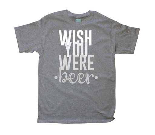 Playera para Caballero Wish You Were Playeras Plash Gris CH