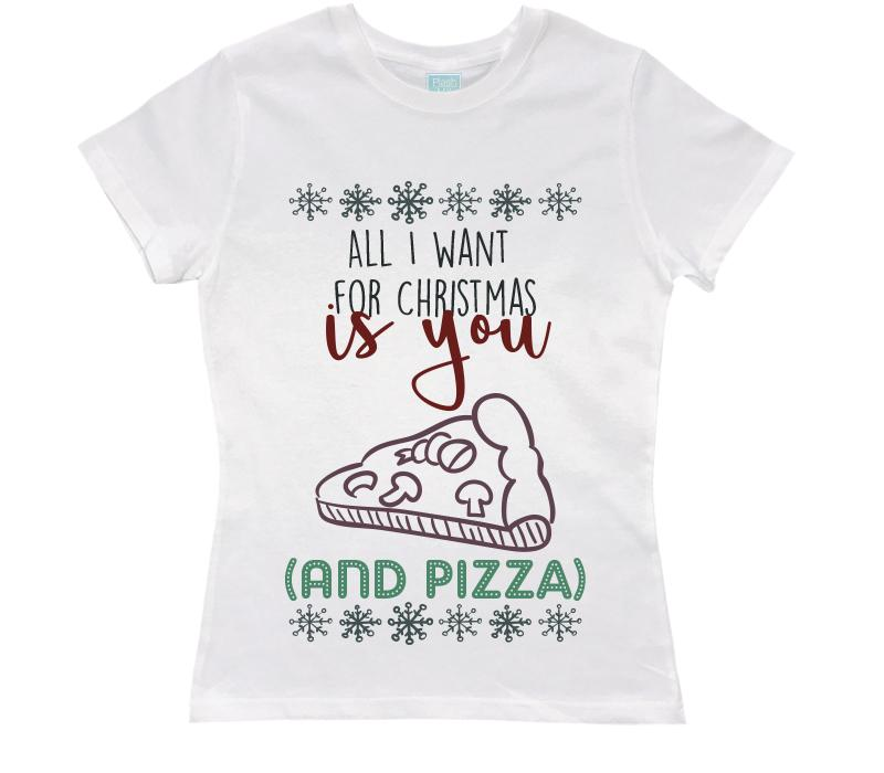 Playera Dama You And Pizza Playeras Dama Blanco / CH / Dama
