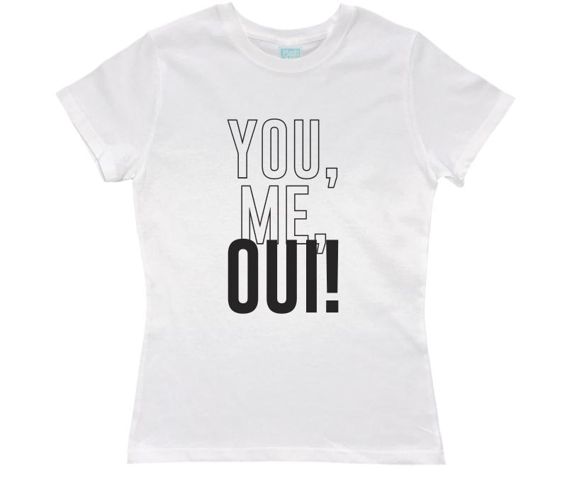 Playera para Dama You, Me, Oui! Playeras Dama Blanco / CH