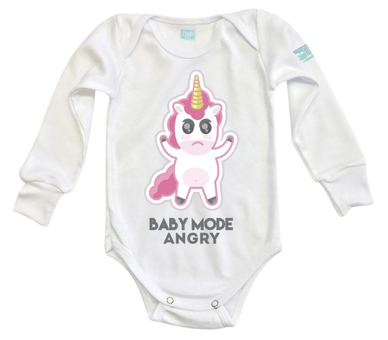 Body Bebé Baby Mode Pañalero Manga Larga / Blanco / 0m