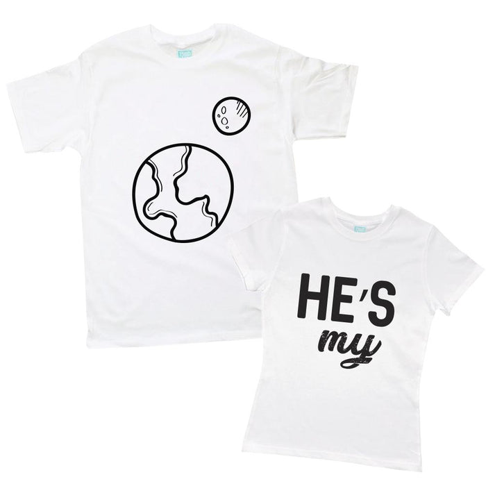 Kit de Pareja He's My World Kit de Parejas Blanco / CH / CH