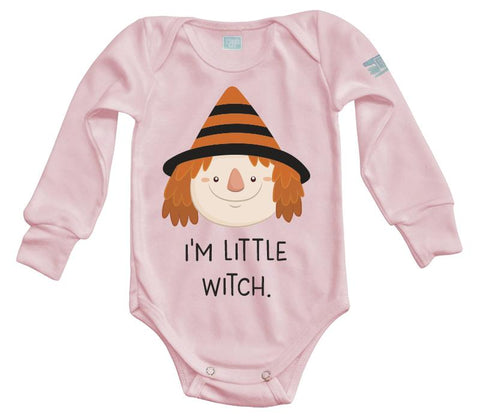 Body Bebe I m Little Witch Pañalero Plash Manga Larga Rosa 0m 45e50eabce8