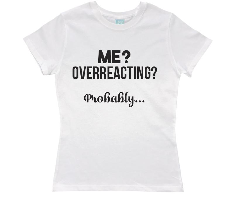 Playera para Dama Overreacting Playeras Dama Blanco / CH