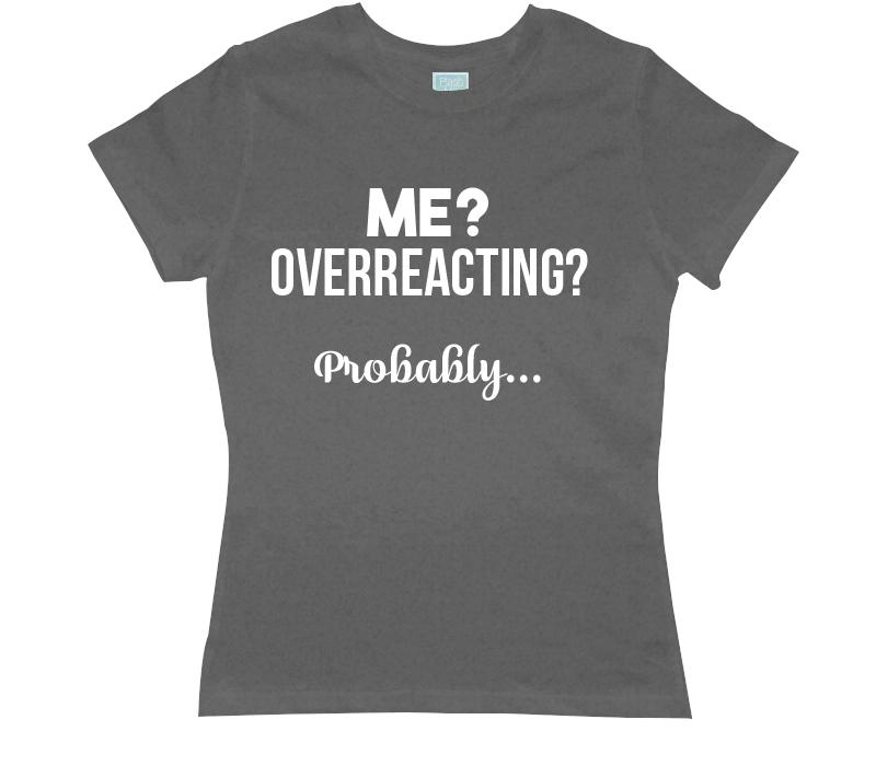 Playera para Dama Overreacting Playeras Dama Gris / CH