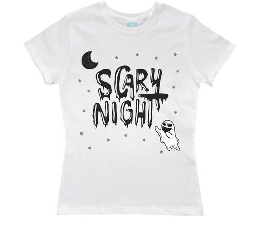 Playera para Dama Scary Night Fantasma Playeras Dama Blanco / CH