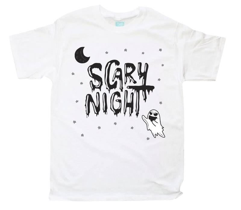 Playera para Caballero Scary Night Fantasma Playeras Caballero Blanco / CH