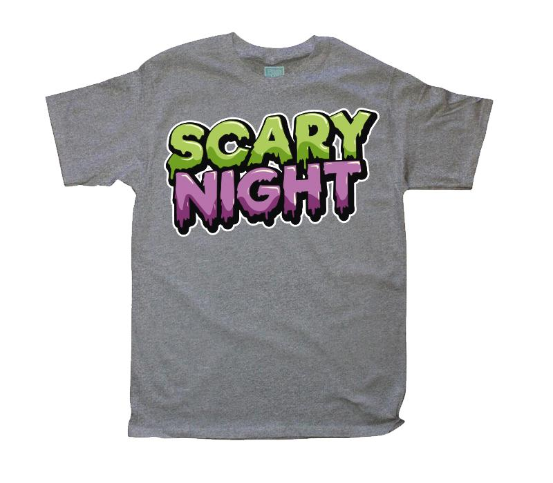 Playera para Caballero Scary Night Playeras Caballero Gris / CH