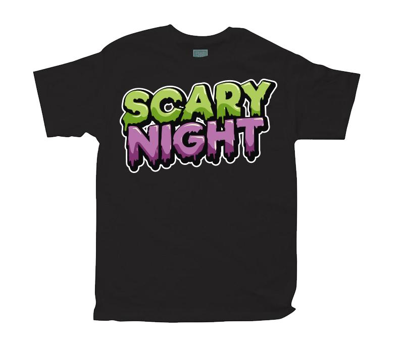 Playera para Caballero Scary Night Playeras Caballero Negro / CH