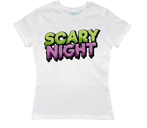 Playera para Dama Scary Night Playeras Dama Blanco / CH