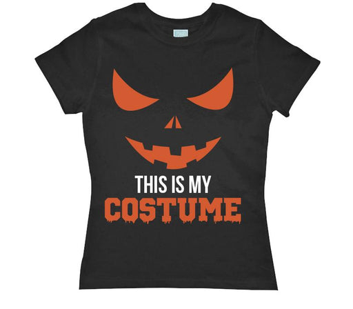 Playera para Dama This Is My Costume Playeras Dama Negro / CH