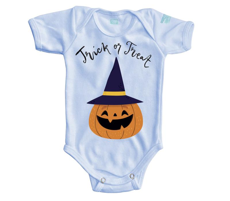 Body Bebe Trick or Treat Pañalero Manga Corta / Azul / 0m