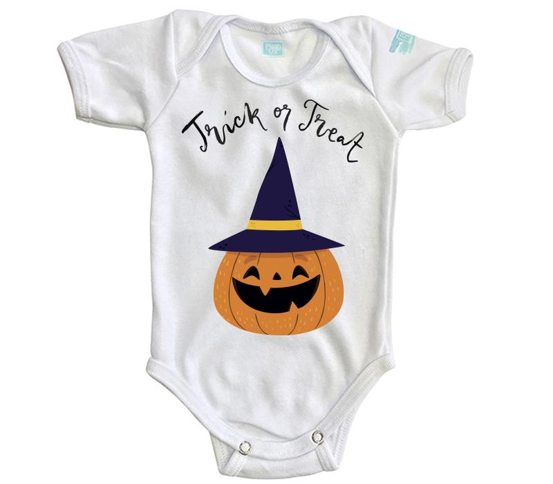 Body Bebe Trick or Treat Pañalero Manga Corta / Blanco / 0m